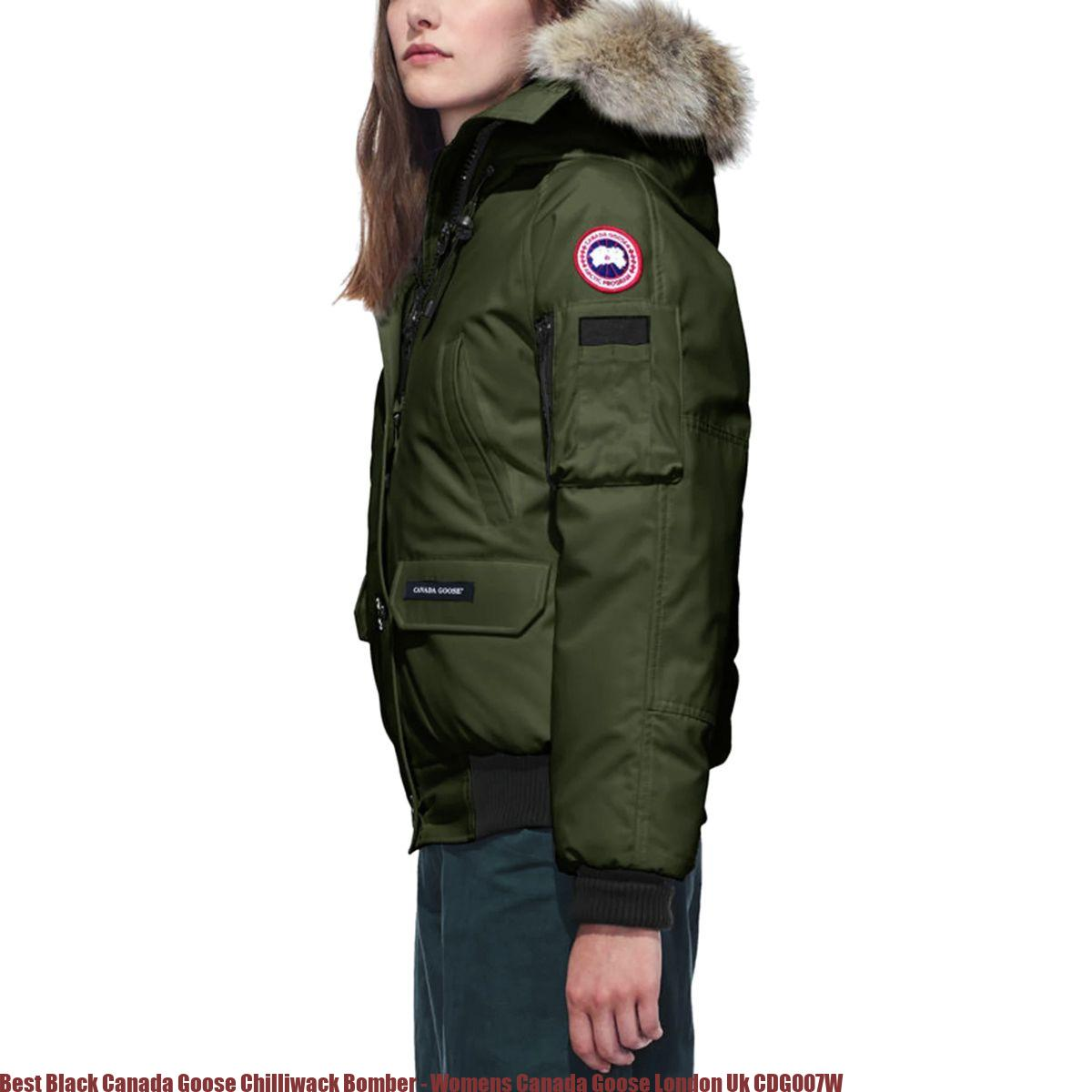 ec95332ac Best Black Canada Goose Chilliwack Bomber - Womens Canada Goose London Uk  CDG007W