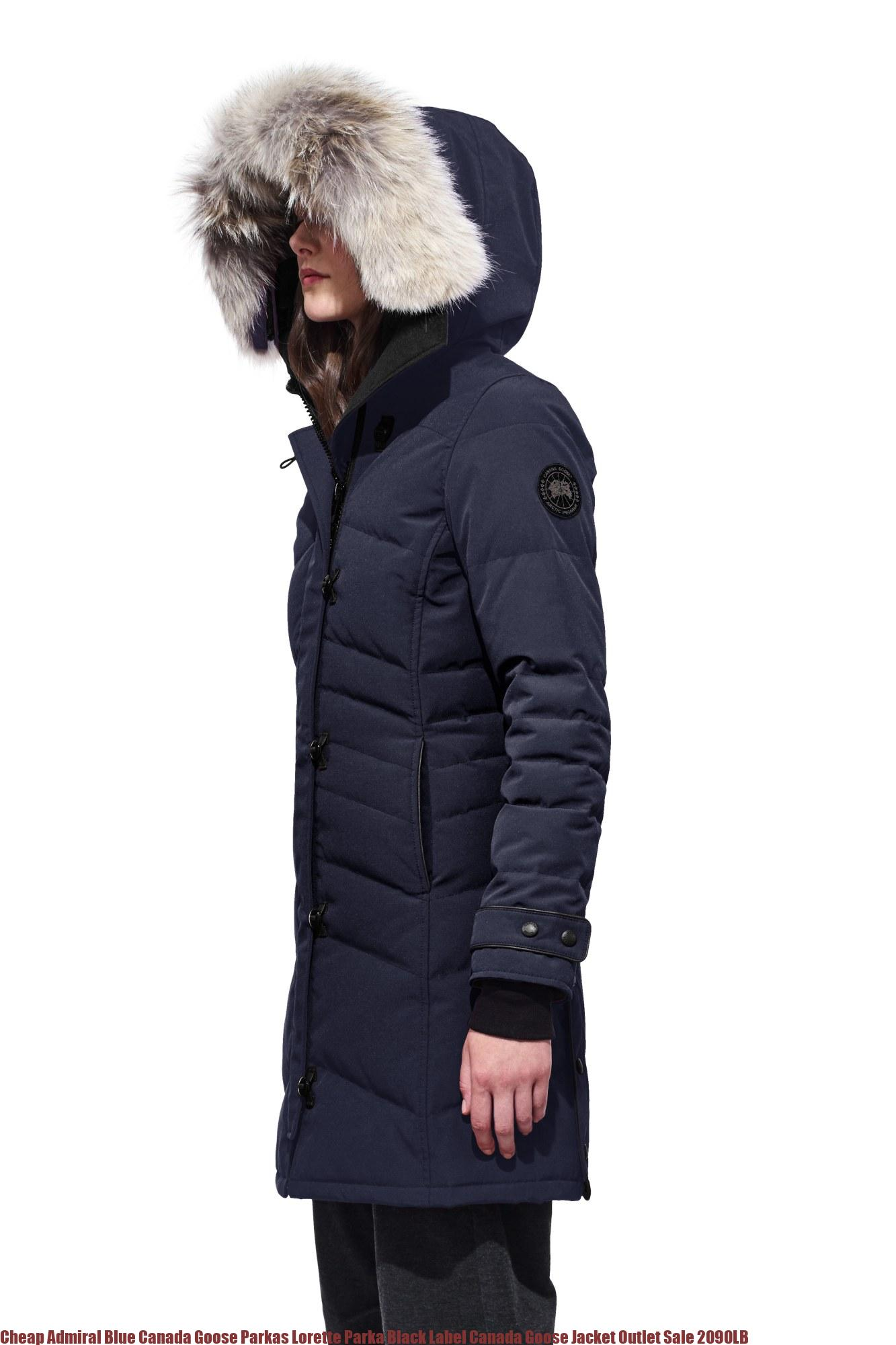 new style cd668 59ec4 Cheap Admiral Blue Canada Goose Parkas Lorette Parka Black Label Canada  Goose Jacket Outlet Sale 2090LB