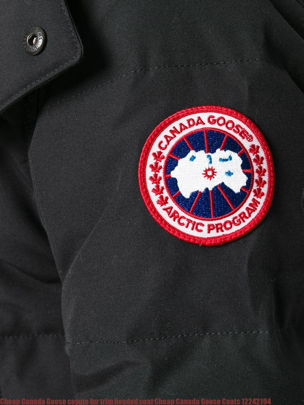 6315a0bf174 Cheap Canada Goose coyote fur trim hooded coat Cheap Canada Goose Coats  12242194