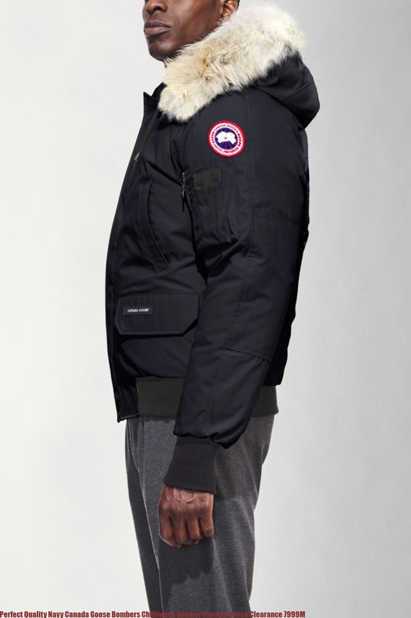 ec0c1fc9e94 Perfect Quality Navy Canada Goose Bombers Chilliwack Bomber Canada Goose  Clearance 7999M